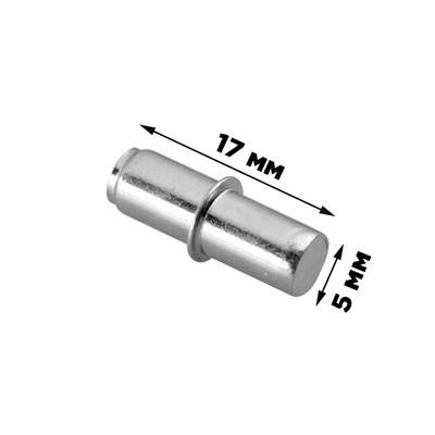 Полкодержатель для ДСП цилиндр цинк (отверстие 5 мм) (№ПК24) - фото 17646