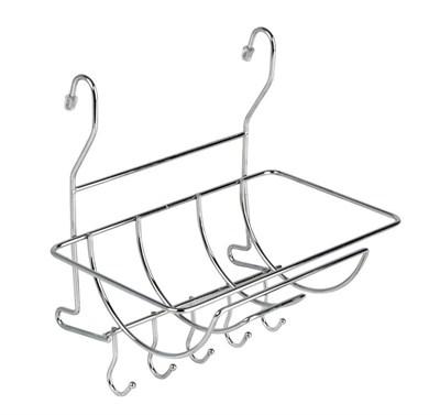 Полка на рейлинг для полотенец с крючками - фото 17997