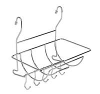 Полка на рейлинг для полотенец с крючками