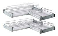 Посудосушитель угловой CORNER VAR 600x600 (хромированная сталь)