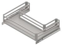 Корзина под мойку STARAX Aluminium R для распашных фасадов